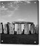 Stonehenge On A Clear Blue Day Bw Acrylic Print