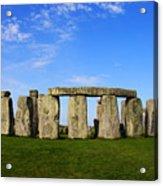 Stonehenge On A Clear Blue Day Acrylic Print by Kamil Swiatek