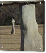 Stonehenge Two Meets Easter Island Acrylic Print