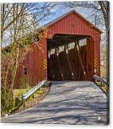 Stonelick Covered Bridge Acrylic Print