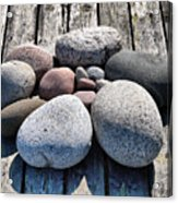 Stones And Old Wood 3  Acrylic Print