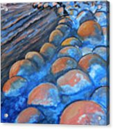 Stones By The Sea Acrylic Print