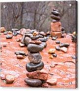 Stones In Balance Acrylic Print