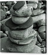 Stones Still Life Monochrome Acrylic Print