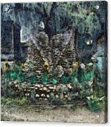Stones To Decorate A Tree Acrylic Print
