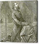 Stonewall Jackson Praying Before The Battle Acrylic Print