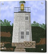 Stony Point On The Hudson River New York Acrylic Print