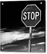 Stop Acrylic Print by James Bull