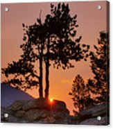 Stop Right Here - Rocky Mountain Np - Sunrise Acrylic Print