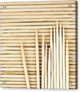 Stored Wooden Toothpicks Acrylic Print