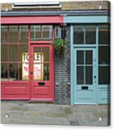 Storefronts For Let Acrylic Print
