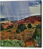 Storm Approaching The Ridge Acrylic Print
