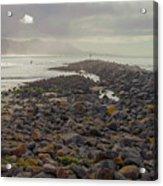 Storm At Morro Rock Breakwater Morro Bay California Acrylic Print