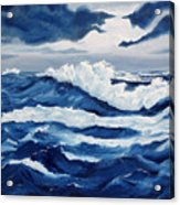 Storm At Sea Acrylic Print