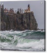 Storm At Split Rock Lighthouse Acrylic Print