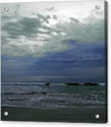 Storm At The Beach Acrylic Print