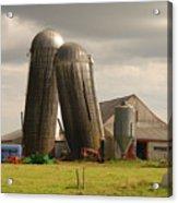 Storm At The Farm Acrylic Print