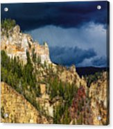 Storm Brewing Over Yellowstone Acrylic Print
