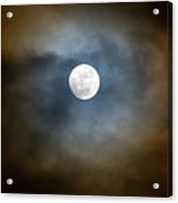 Storm Clouds Breaking For The Full Moon Acrylic Print