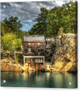 Storm Clouds Cross The Quarry At High Noon Acrylic Print