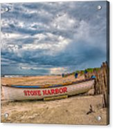 Storm Clouds In Stone Harbor Acrylic Print