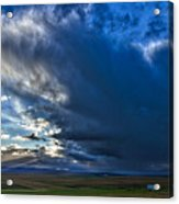 Storm Clouds Over Farmland #2 - Iceland Acrylic Print
