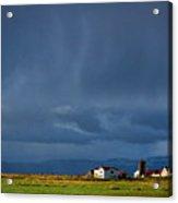 Storm Clouds Over Farmland - Iceland Acrylic Print