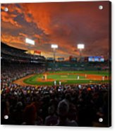 Storm Clouds Over Fenway Park Acrylic Print