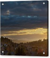Storm Clouds Over Happy Valley During Sunset Acrylic Print
