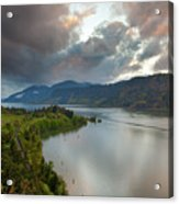 Storm Clouds Over Hood River Acrylic Print