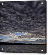 Storm Clouds Over Long Lake Acrylic Print