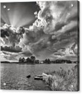 Storm Clouds Over Oriental Acrylic Print