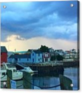 Storm Clouds Over Rockport Harbor Acrylic Print
