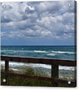 Storm Clouds Over The Beach Acrylic Print