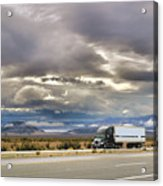 Storm Clouds Over The Highway Acrylic Print