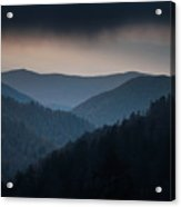 Storm Clouds Over The Smokies Acrylic Print
