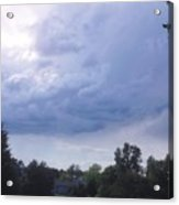 Storm Clouds Passing Through Acrylic Print
