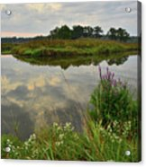 Storm Clouds Reflect In The Nippersink Acrylic Print