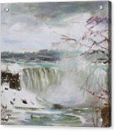 Storm In Niagara Falls  Acrylic Print
