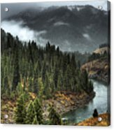 Storm In Snake River Canyon Acrylic Print