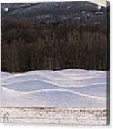 Storm King Wavefield In Snowy Dress Acrylic Print