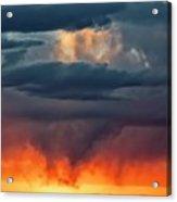 Storm Light Beam, Albuquerque, New Mexico Acrylic Print