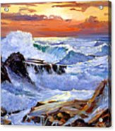 Storm On The Irish Coast Acrylic Print