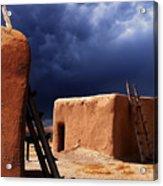Storm On The Mesa Acrylic Print