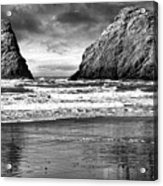 Storm On The Rocks Acrylic Print