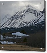 Storm On The Rocky Mountain Front Acrylic Print