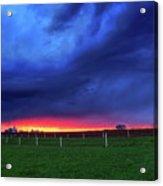Storm Over Farm Country Acrylic Print
