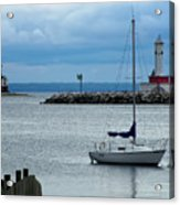 Storm Over Mackinac Acrylic Print
