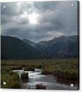 Storm Over Moraine Park Rocky Mountain National Park Acrylic Print