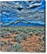 Storm Over Taos Mountain Acrylic Print